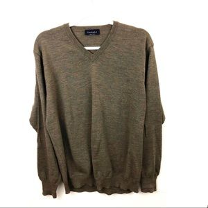CANALI Pullover V Neck Wool Sweater Long Sleeve